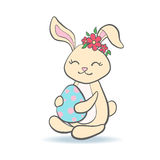 Cute Easter Bunny with egg. Royalty Free Stock Photos