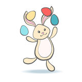 Cute Easter Bunny with eggs. Royalty Free Stock Image