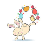 Cute Easter Bunny with eggs. Stock Image