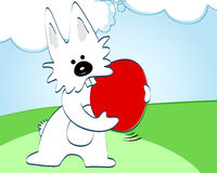 Cute Easter Bunny illustration Stock Photography