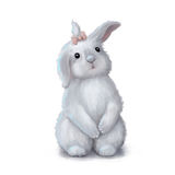 Cute easter bunny rabbit girl Stock Images