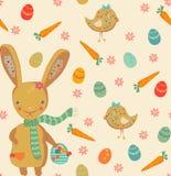 Cute easter bunny seamless pattern tile stock illustration