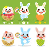 Cute Easter Bunny Set Royalty Free Stock Image