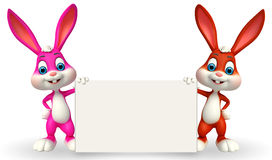 Cute Easter Bunny with sign Royalty Free Stock Images