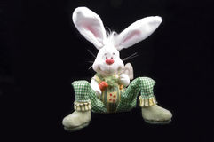 Cute easter bunny sitting Stock Image