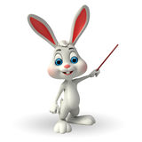 Cute Easter Bunny with stick Stock Image