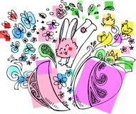 Cute Easter Bunny With Egg Royalty Free Stock Photography