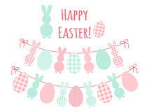 Cute Easter bunting Stock Photo