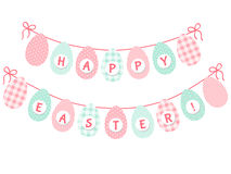 Cute Easter bunting Royalty Free Stock Images