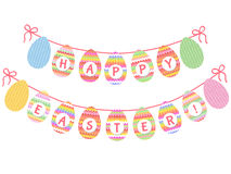 Cute Easter bunting Stock Image