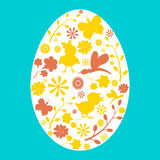 Cute Easter card. Stock Images