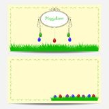 Cute easter card. With place for greeting text vector illustration