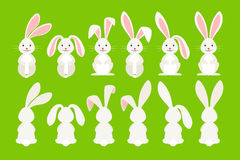Cute easter cartoon bunny Royalty Free Stock Images