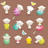 Cute easter character set. Vector illustration Royalty Free Stock Image
