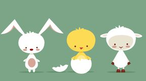 Cute easter characters. Illustration Royalty Free Stock Photography