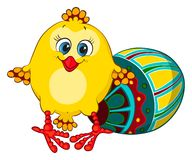Cute easter chick Royalty Free Stock Images