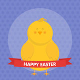 Cute Easter chick  vector illustration. Stock Photo