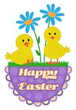 Cute Easter Chicks Design Royalty Free Stock Photo