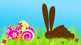 Cute Easter chocolate rabbit Stock Photo