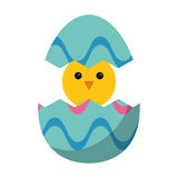 Cute easter egg chicken Royalty Free Stock Images