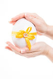 Cute easter egg with yellow  loop Royalty Free Stock Photos
