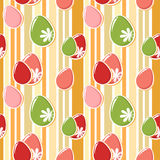 Cute easter eggs seamless pattern Stock Photos