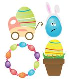 Cute easter elements Royalty Free Stock Photos