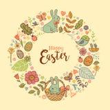 Cute Easter festive frame Stock Image