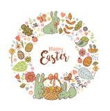 Cute Easter festive frame Stock Photos