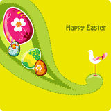 Cute easter greeting card. Cute easter greeting card with lovely bird Royalty Free Stock Photo