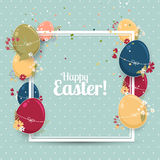 Cute Easter greeting card Stock Photos