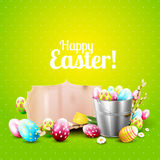 Cute Easter greeting card Royalty Free Stock Images