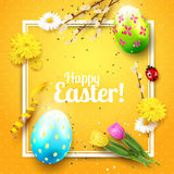 Cute Easter greeting card Royalty Free Stock Photography