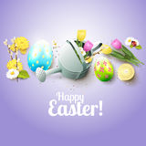 Cute Easter greeting card Stock Images