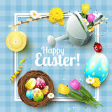 Cute Easter greeting card Stock Photo