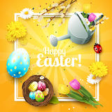 Cute Easter greeting card Royalty Free Stock Photo