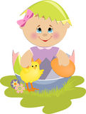 Cute Easter illustration Stock Images