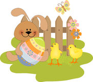 Cute Easter illustration Stock Photo