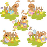 Cute easter illustration Royalty Free Stock Images