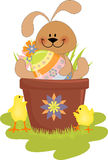 Cute Easter illustration with rabbit Royalty Free Stock Images