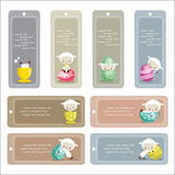 Cute easter labels. Vector illustration Royalty Free Stock Photography
