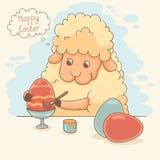 Cute Easter Lamb Stock Photography