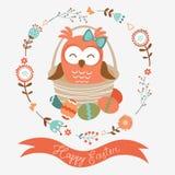 Cute Easter owl Stock Photos