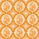Cute easter pattern Stock Images