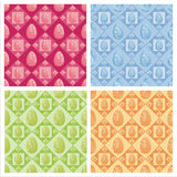 Cute easter patterns Royalty Free Stock Photography