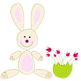 Cute Easter rabbit Stock Photo