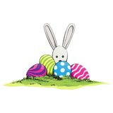 Cute easter rabbit Stock Photography