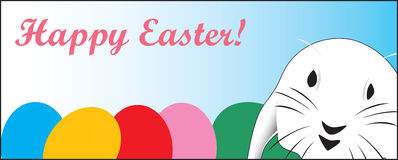 Cute Easter rabbit, great for a quick card or E-Ca Stock Image