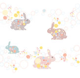 Cute easter rabbit pattern. Royalty Free Stock Images