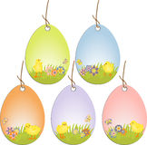 Cute easter scrapbooking tags Stock Photography